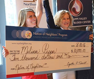 Melissa Pepper Nation of Neighbors Winner